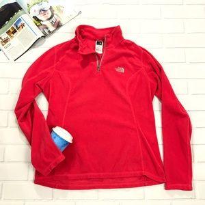 North Face 1/4 Half Zip Sweater Fleece pullover